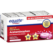 Equate Children's Acetaminophen Tablet Bubble Gum Flavor