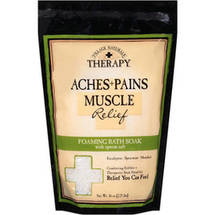 Village Naturals Therapy Aches+Pains Muscle Relief Foaming Bath Soak with Epsom Salt