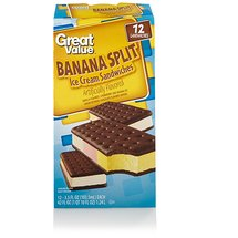 Great Value Banana Split Ice Cream Sandwiches