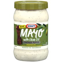 Kraft Mayo Reduced Fat Cracked Pepper Mayonnaise with Olive Oil
