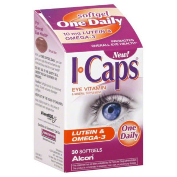 Alcon I Caps Eye Vitamin Softgels