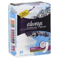 Always Discreet Always Discreet, Incontinence Pads, Maximum, Long Length, 39 Count Feminine Care