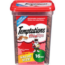 Temptations MixUps Backyard Cookout Chicken/Liver and Beef Flavors Treats for Cats
