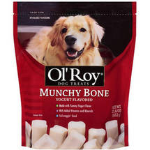 Ol Roy Munchy Bone Yogurt Flavored Dog Treats