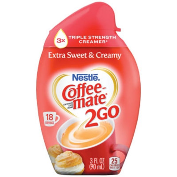 Nestlé Coffee Mate 2Go Extra Sweet & Creamy Concentrated Liquid Coffee Creamer