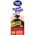 Great Value Large Twist Tie Trash Bags