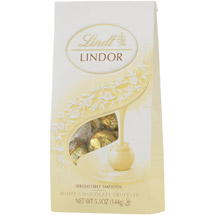 Lindt White Lindor Truffles With A Smooth Filling