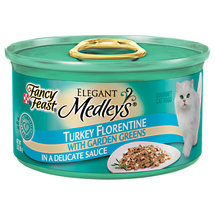 Fancy Feast Elegant Medleys Turkey Florentine In Sauce w/Garden Greens Cat Food