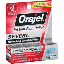 Orajel Double Medicated Oral Pain Reliever Gel
