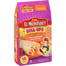 El Monterey Roll-Ups Maple Flavored Egg & Sausage Tortillas