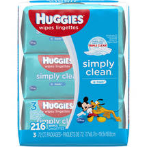 HUGGIES Simply Clean Fresh Baby Wipes Refills (Pack of 3)