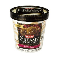 H-E-B Creamy Creations Premium Rocky Road Ice Cream