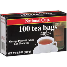 National Cup Orange Pekoe & Pekoe Cut Black Tea Tea Bags