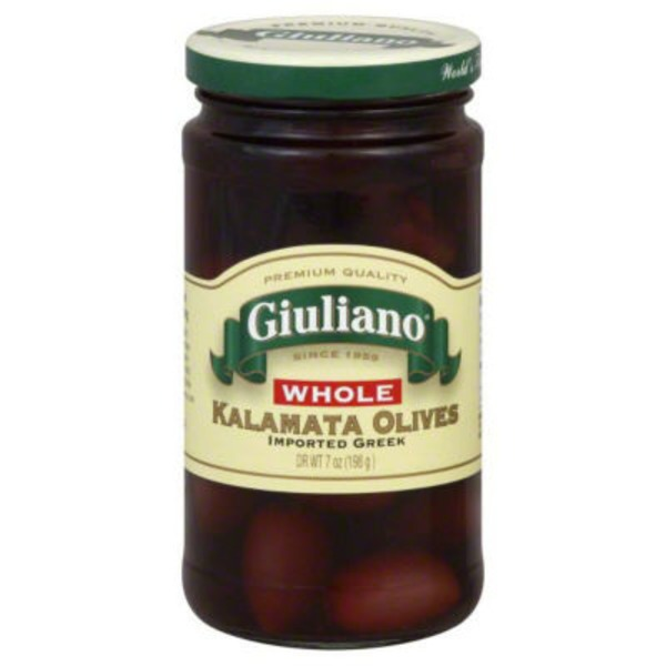 San Giualiano Olives, Kalamata, Whole