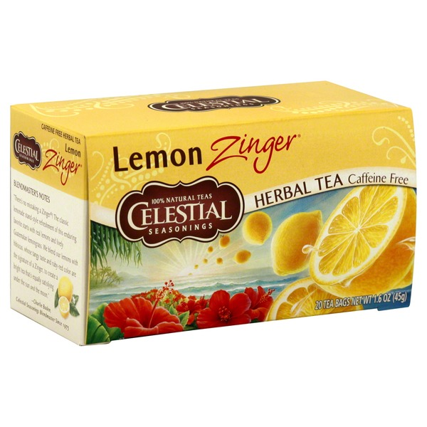 Celestial Seasonings Lemon Zinger Caffeine Free Herbal Tea