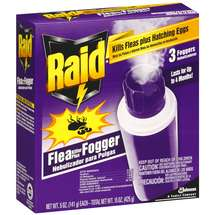 Raid Plus 3 Foggers Flea Killer