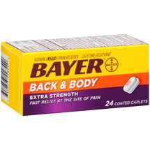 Bayer Back & Body Extra Strength Aspirin/Caffeine Coated Caplets