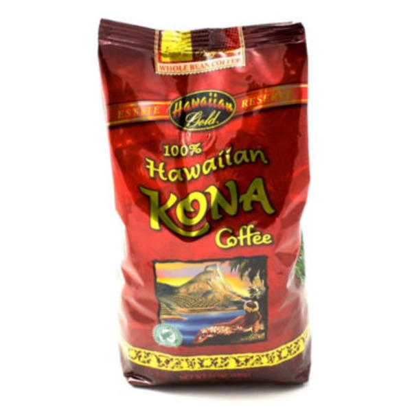 Hawaiian Gold 100% Hawaiian Kona Whole Bean Coffee