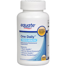 Equate Men's Health Formula One Daily With Lycopene Dietary Supplement