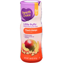 Parent's Choice Little Puffs Peach Mango Puffed Whole-Grain Snack