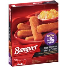 Banquet Fish Sticks with Mac & Cheese Frozen Entree