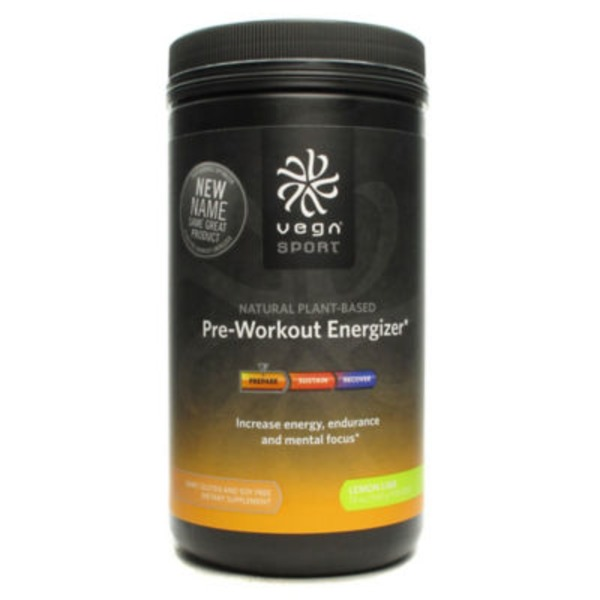 Vega Sport Pre-Workout Energizer Lemon Lime Powder Dietary Supplement