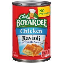 Chef Boyardee Chicken Ravioli Pasta in Tomato Sauce