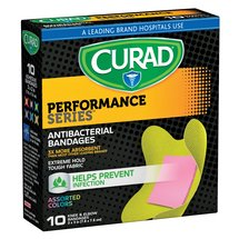 Curad Performance Series Knee & Elbow Antibacterial Bandages