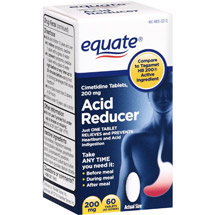 Equate Cimetidine Tables Acid Reducer Heartburn Relief 200 Mg