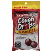 H-E-B Sugar Free Black Cherry Cough Drops