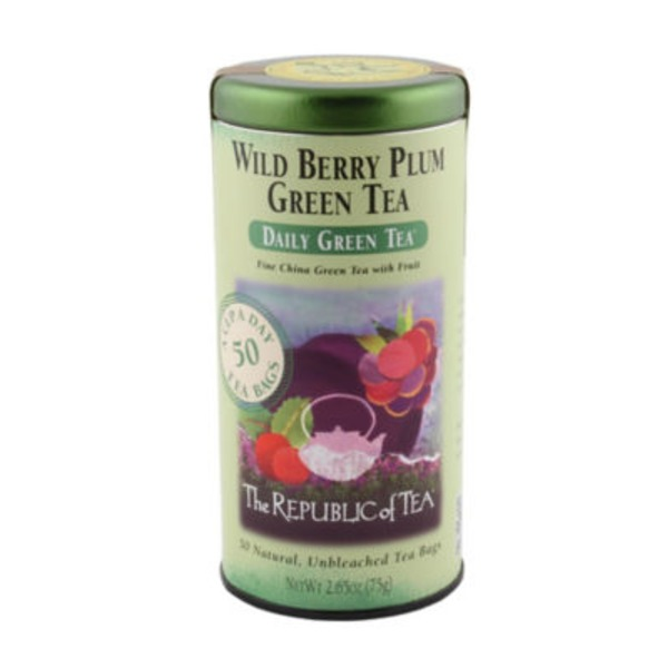 The Republic of Tea Wild Berry Plum Green Tea