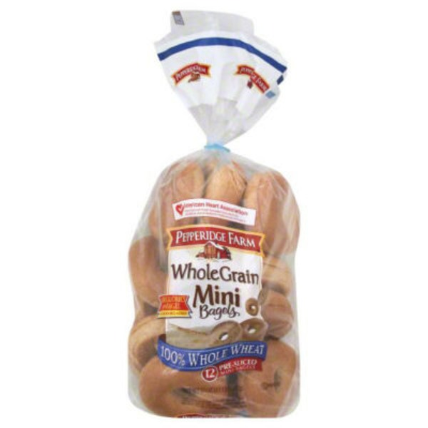 Pepperidge Farm 100% Whole Wheat Mini Bagels