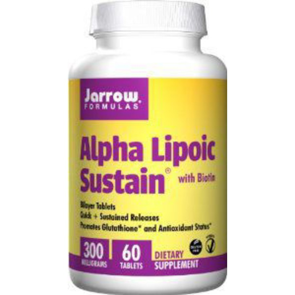 Jarrow Formulas Alpha Lipoic Sustain 300mg w/ Biotin Tablets