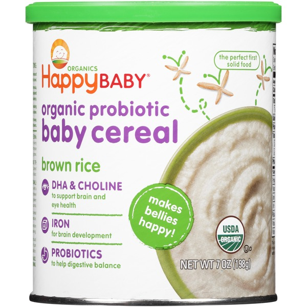 Happy Baby/Family Organic Probiotic Brown Rice Baby Cereal