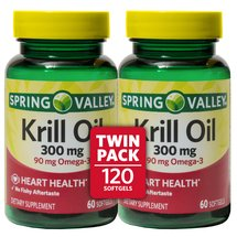 Spring Valley Krill Oil Dietary Supplement Softgels