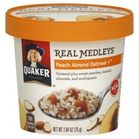 Quaker Real Medleys Real Medleys Peach Almond Oatmeal