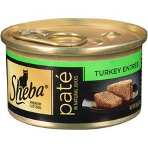 Sheba Cat Food Premium Pate in Natural Juices Turkey Entree