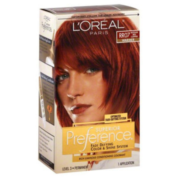 Superior Preference Warmer RR07 Intense Red Copper Hair Color