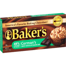 Kraft Baker's German's Sweet Chocolate Baking Bar