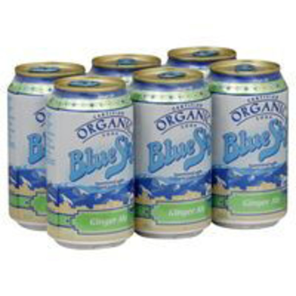 Blue Sky Certified Organic Ginger Ale Soda
