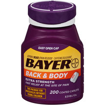 Bayer Back & Body Extra Strength Pain Reliever Coated Caplets