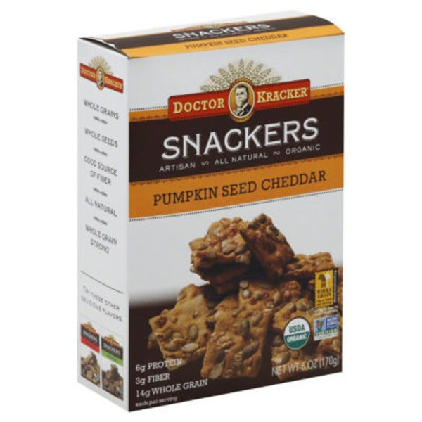 Doctor Kracker Snackers Pumpkin Seed Cheddar