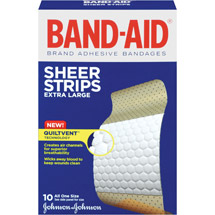 Band-Aid Sheer Strips Extra Large Comfort-Flex Bandages