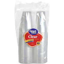 Great Value 9 oz Clear Cups