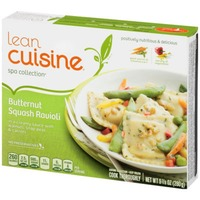 Lean Cuisine Marketplace Butternut squash ravioli in a creamy sauce with walnuts, snap peas and carrots Butternut Squash Ravioli