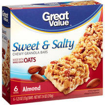 Great Value Sweet & Salty Almonds Granola Bars
