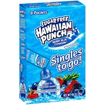 Hawaiian Punch Singles Berry Blue Typhoon Low Calorie Drink Mix
