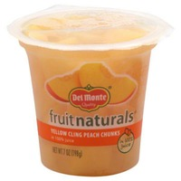 Fruit Naturals Yellow Cling in Extra Light Syrup Peach Chunks