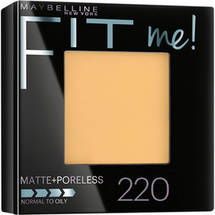 Maybelline New York Fit Me! Matte + Poreless Foundation Powder 220 Natural Beige