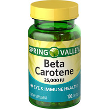 Spring Valley Beta Carotene 25000 I.U. Softgels Dietary Supplement